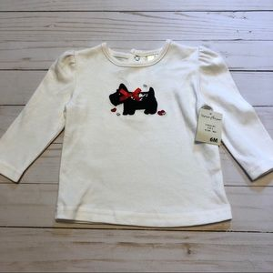 Scottie embroidered long sleeve tee